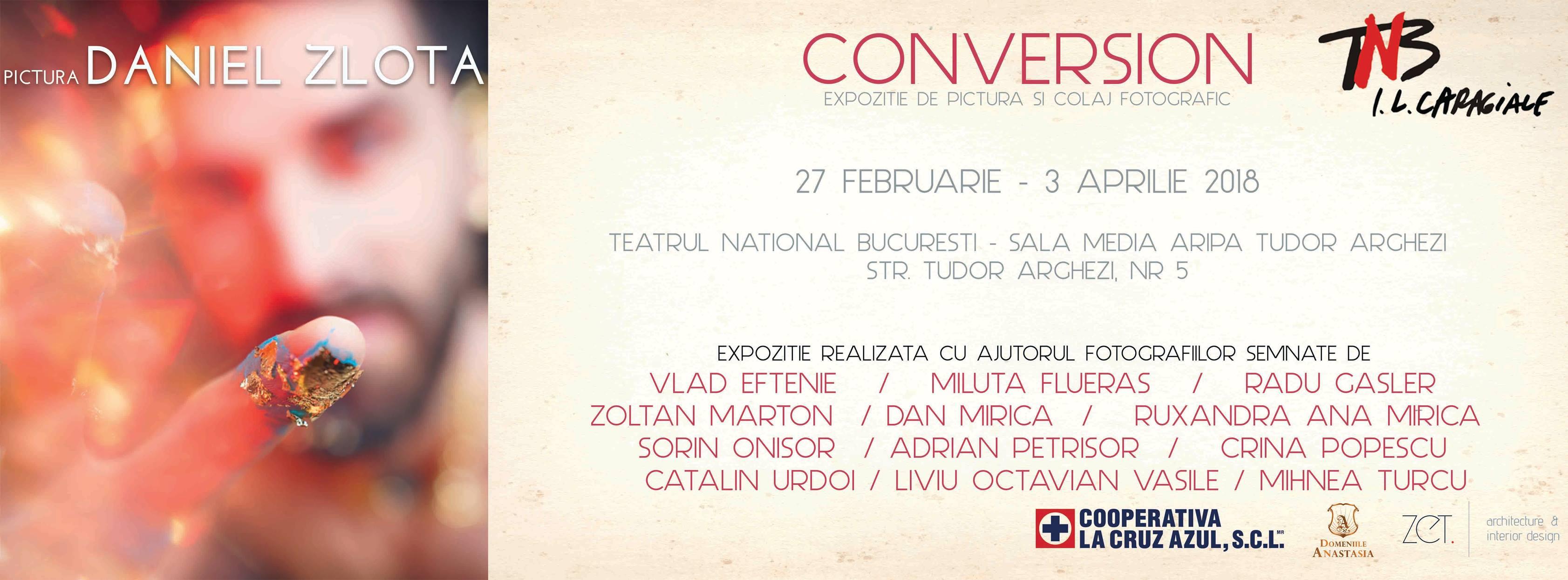 Conversion – un proiect inedit de pictură și colaj fotografic gândit de artistul Daniel Zlota