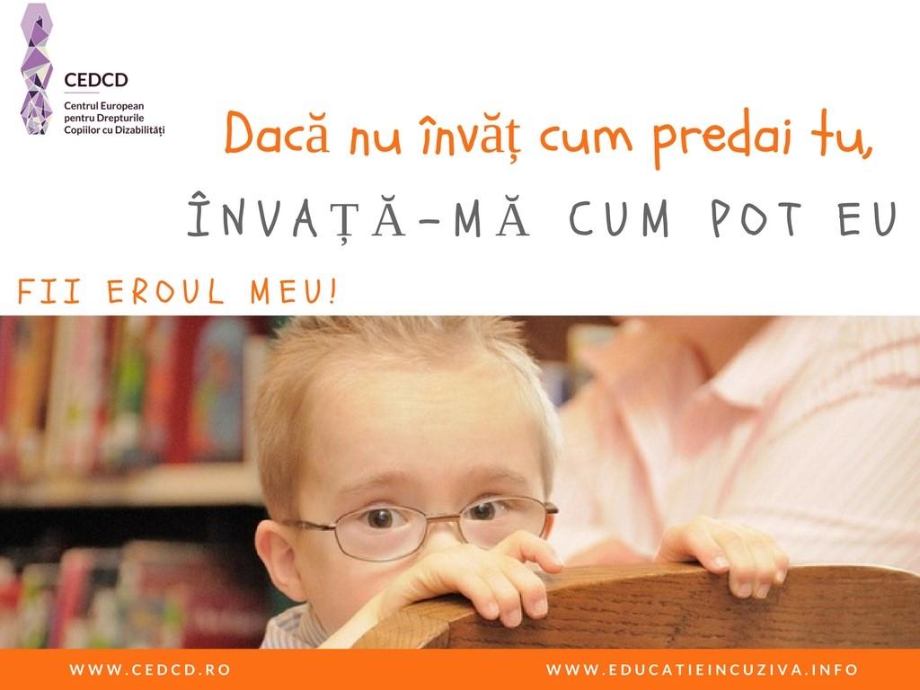 Primul Curs de Educație Incluzivă pentru profesorii din România